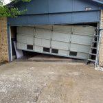 Garage Door Repair Tulsa 16X7 Residential Garage Door Drove Into With Car Before