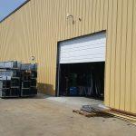 Garage Door Repair Tulsa Custom Commercial 20x20 Garage Door Cut Into Side Of Building