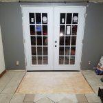 Garage Door Repair Tulsa Residential French Door Install With Severe Floor Damage 5