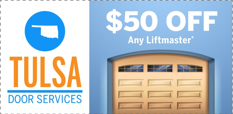 Tulsa Door Services Promotions Coupons Fifty Dollars Off Liftmaster